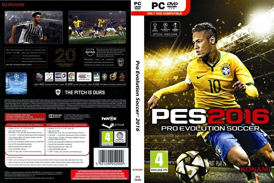 Pro Evolution Soccer 2016 - PC Capa (2)